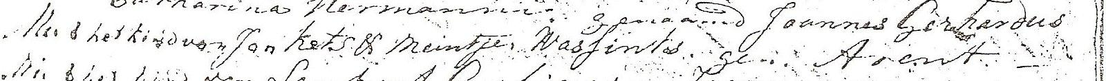 Detail doopboek Hoog Keppel: doop Arend Ketz 03-05-1768.